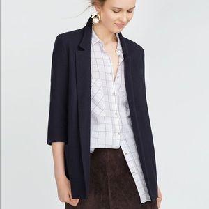 Navy Zara basic blazer